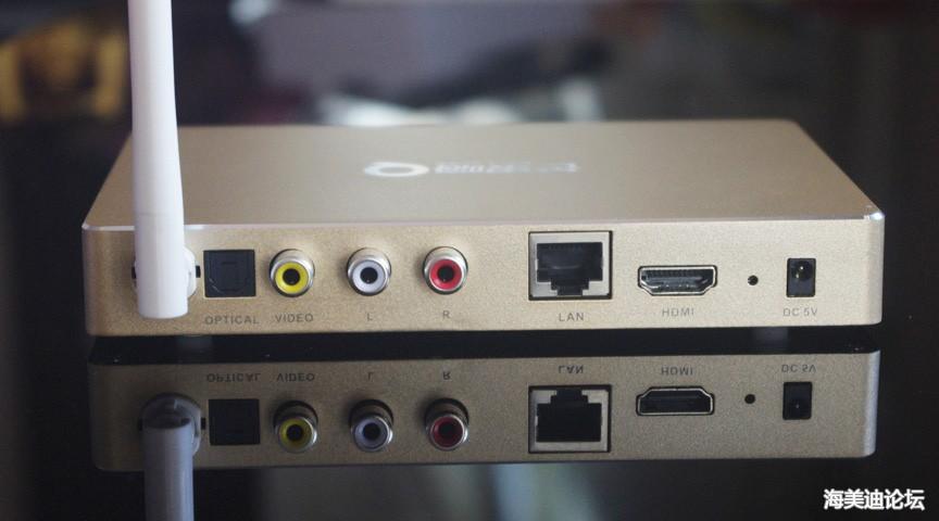 光纤音频口av视频口(老电视用) 有线网口 hdmi接口 电源